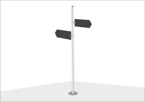 Навигационная табличка на опоре
