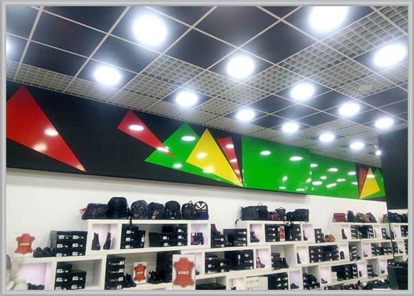 Оформление интерьера обувного магазина