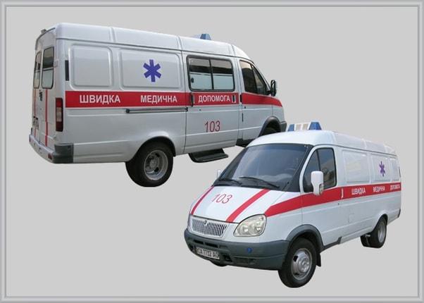 Оклейка, оформление машины скорой помощи
