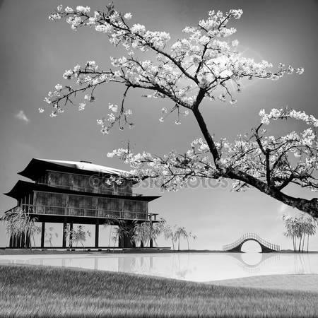 Принт для дизайнерського світильника - Японія