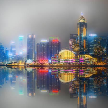 Принт для дизайнерского светильника - Панорама Гон Конг