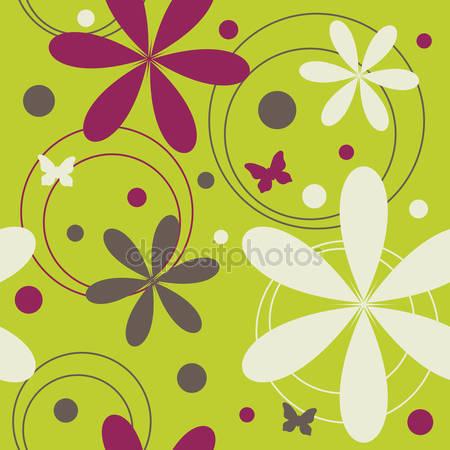 Принт для дизайнерского светильника - Узор цветы