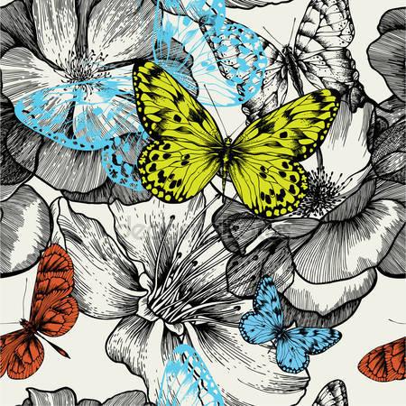 Принт для дизайнерского светильника - Бабочки