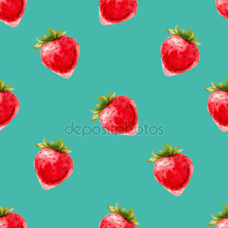 Принт для дизайнерського світильника - Ягоди полуниці