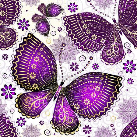 Принт для дизайнерского светильника - Бабочки узор