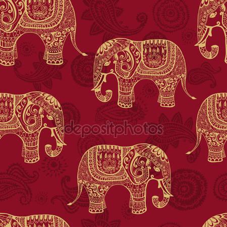 Принт для дизайнерского светильника - Слоны