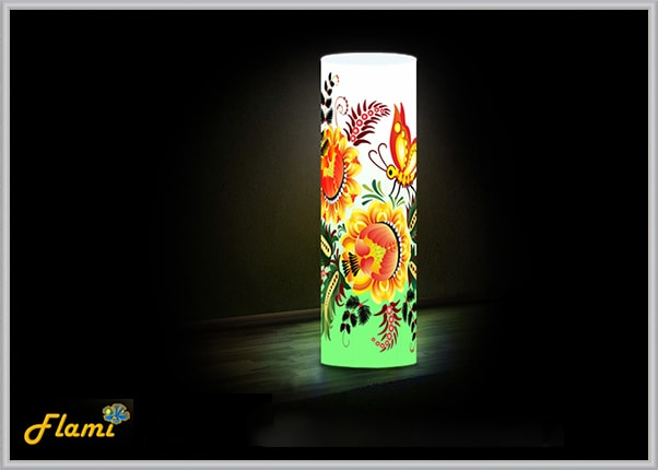 Дизайнерский светильник Flami с Петриковской росписью