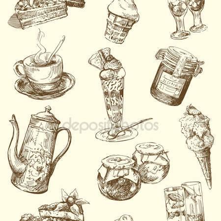 Принт для дизайнерского светильника - Кофе с мороженым