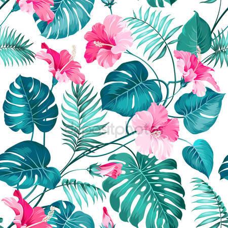 Принт для дизайнерського світильника - Тропічні рослини