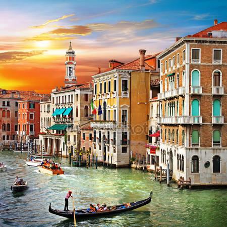 Принт для дизайнерского светильника - Венеция