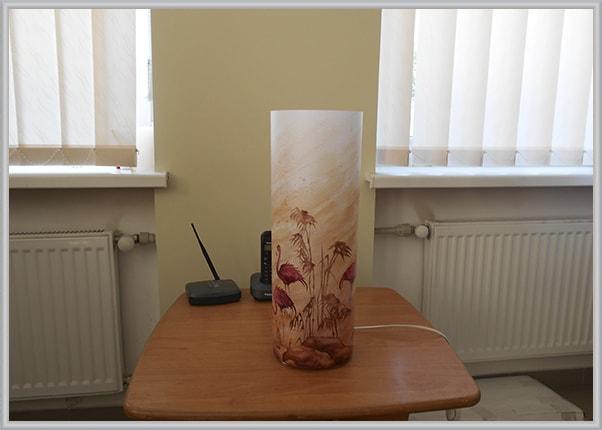 Круглый дизайнерский светильник - Фламинго