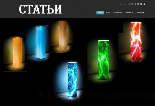Інтер'єрні світильники в різних стилях