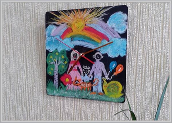 Настенные часы для рисования мелом для детей