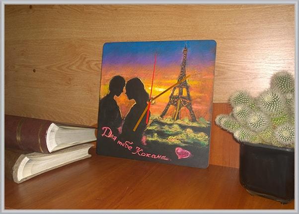 Грифельний, крейдовий годинник - подарунок для коханої