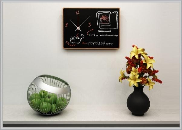Годинник для малювання крейдою прямокутний