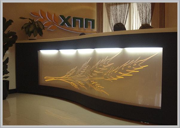 Акрилайт, світлова панель для аграрної компанії