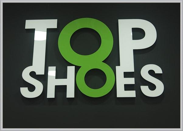 Рекламные, объемные светодиодные буквы для магазина обуви