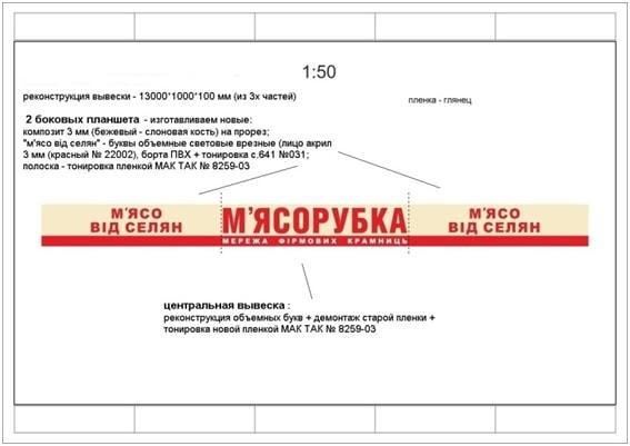 Дизайн макет вивіски