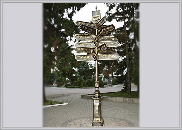 Навигация в городе - туристический указатель направлений