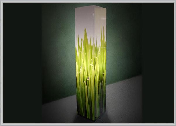Дизайнерський світильник із акрилу, зображення трави