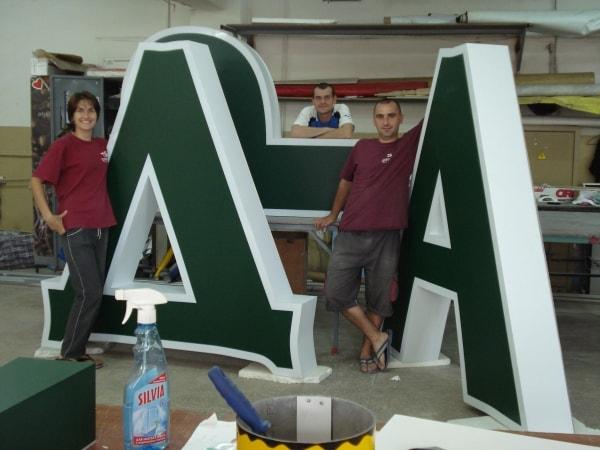 Изготовление объемных букв - рекламные буквы, символы