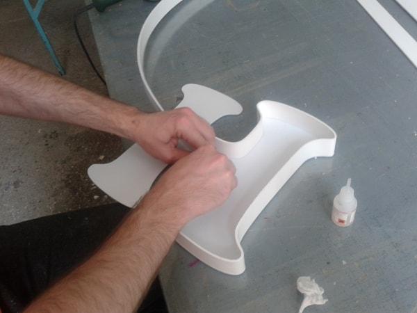 Процесс изготовления объемной буквы