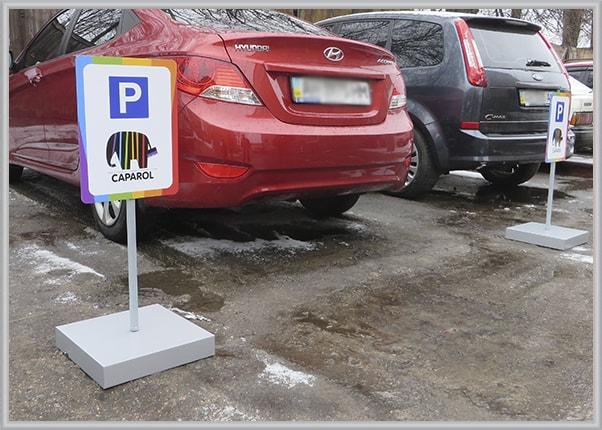 Мобильные знаки для парковки - табличка парковочная из композита на металлической опоре