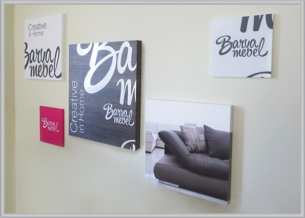 Печать картин для оформления мебельного салона, магазина Барва в Харькове