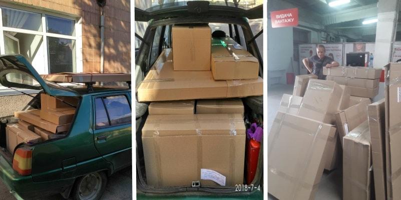 Упаковка, отправка дефлекторов, защитных экранов для кондиционера заказчикам