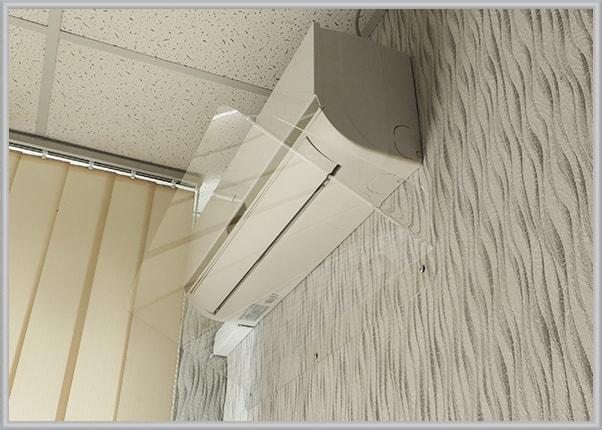 Накладка відбивач холодного повітря на кондиціонер для IT-компанії