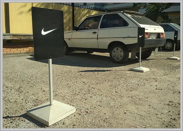 Переносні паркувальні таблички, знаки для парковки