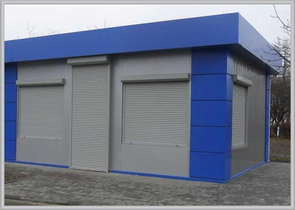 Облицовка фасада МАФа, ларька алюминиевыми композитными панелями