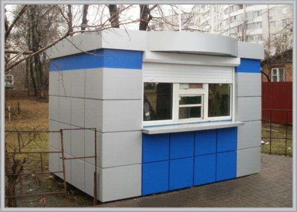 Облицювання МАФа, кіоска композитом (алюмінієвими композитними панелями)