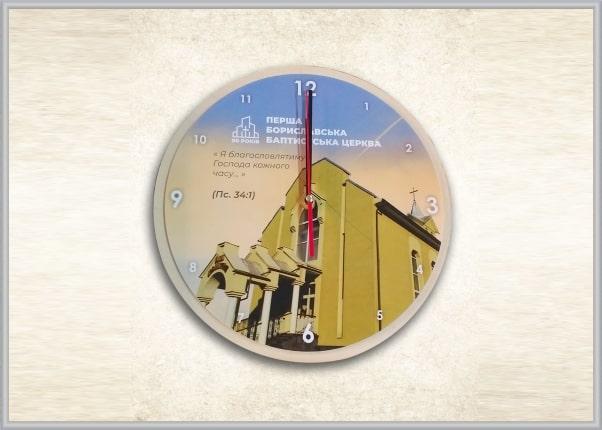 Настінний годинник із зображенням для церкви