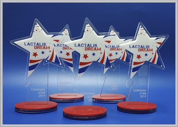 Акриловые наградные кубки лучшим сотрудникам года