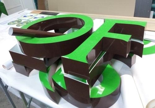 Объемные буквы - изготовление и монтаж