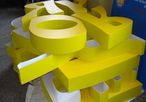 Подбор объемных букв, вывески онлайн