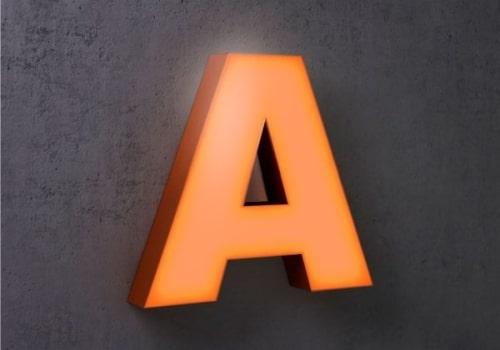 Світлові букви, літери, символи для вивіски, зовнішньої реклами