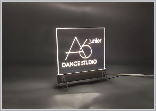 Настольный акрилайт для танцевальной студии