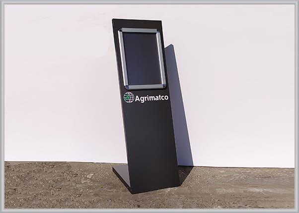 Рекламно-информационная стойка с сменной информацией - профиль клик система A3