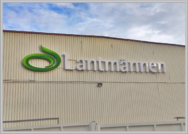 Объемные световые буквы и логотип на каркасе - вывеска завода
