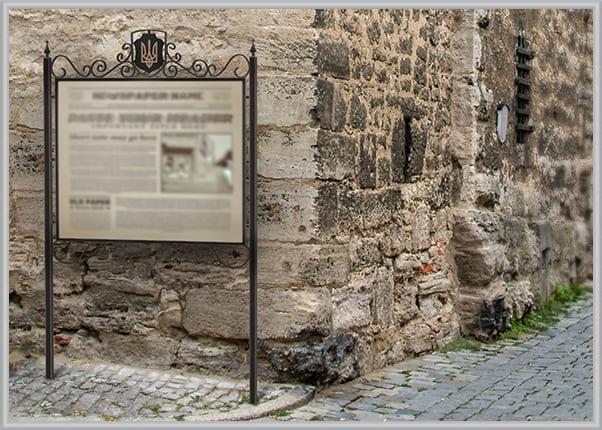 Информационный туристический стенд из металла