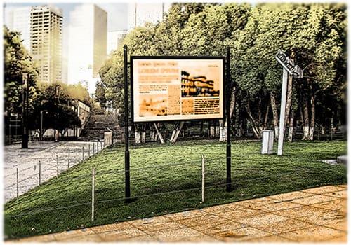 Туристические информационные навигационные стенды