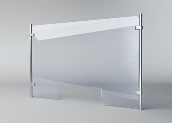 Прозрачная акриловая перегородка для кассы магазина, банка, АЗС, аптеки, офиса, супермаркета