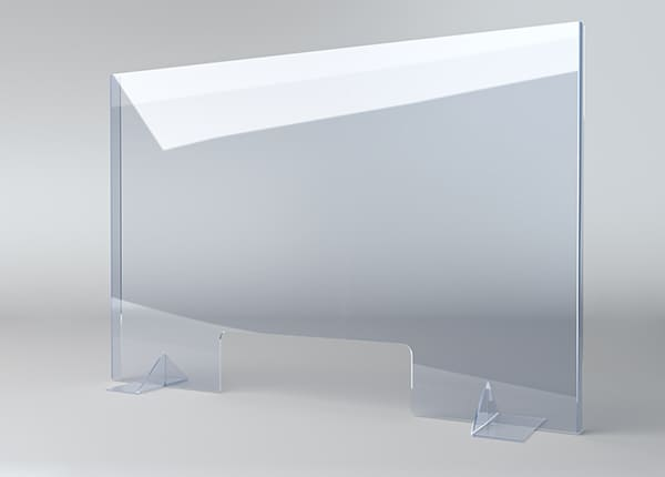 Защитный экран, стекло, перегородка, барьер для кассы магазина, стойки ресепшна
