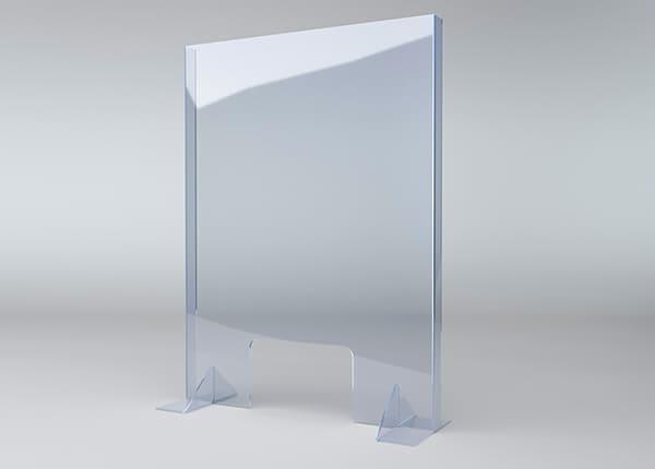 Защитный экран для кассы магазина, стойки ресепшна