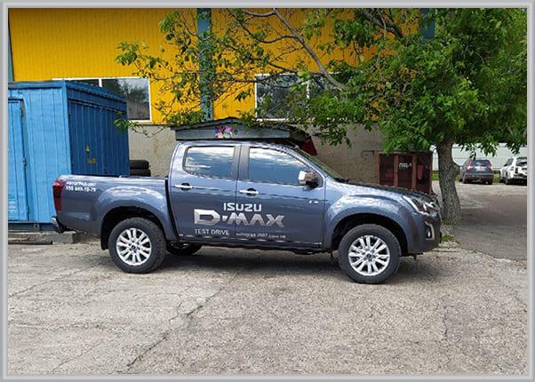 Брендування, нанесення логотипа на автомобіль для тест-драйва