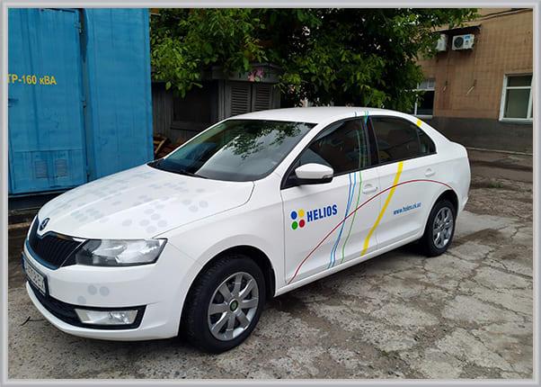 Брендування корпоративного автомобіля - друк логотипа на авто