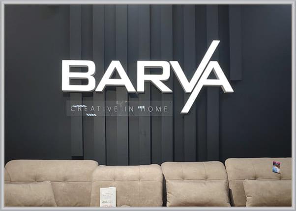 Световой логотип с объемными буквами для мебельного магазина