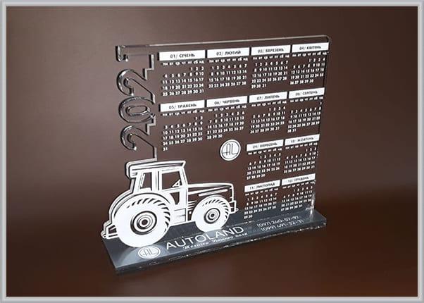 Настільний календар із прозорого акрила для аграрної компанії
